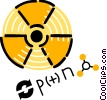Vector Clipart graphic  of a Radioactive Symbols