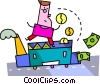 Vector Clipart picture  of a financial concept