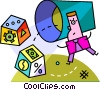 Vector Clipart graphic  of a business metaphors