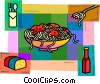 Vector Clipart image  of a Pasta