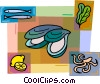 Vector Clip Art picture  of a Oysters