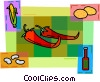 Vector Clip Art image  of a Peppers