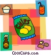 Vector Clip Art image  of a Potato Chips Crisps