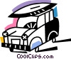 Vector Clip Art graphic  of a Four-Wheel Drive Vehicles