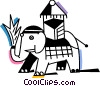 Vector Clip Art picture  of a Elephants