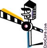 Vector Clip Art image  of a Railways