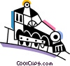 Trains Locomotives Vector Clipart illustration