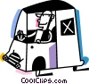 Vector Clipart illustration  of a Minivans