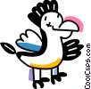 Chickens Vector Clipart illustration