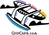 Vector Clip Art picture  of a Fishing Boats