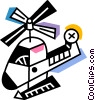 Helicopters Vector Clipart picture