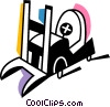 Fork Lifts Vector Clipart picture