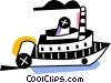 Vector Clipart image  of a River boats
