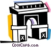 Vector Clip Art image  of an Arc de Triomphe