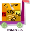 cart and a shipment Vector Clipart graphic
