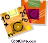 Vector Clip Art graphic  of a diskettes