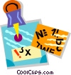 Vector Clip Art picture  of a message