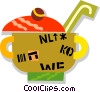 Vector Clip Art picture  of a pot of soup