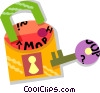 lock and key Vector Clipart illustration