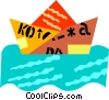 paper boat Vector Clipart illustration
