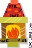Vector Clipart graphic  of a fireplace