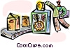 Assembly Lines Vector Clipart picture