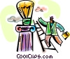 Vector Clipart image  of a Idea Concepts