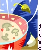 mushroom soup Vector Clipart picture