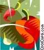 Red hot peppers Vector Clipart image