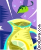 pitcher of lemonade Vector Clipart graphic