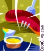 sausage and mustard Vector Clipart picture