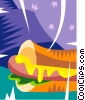Vector Clipart graphic  of a Hot dog