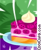 piece of cake Vector Clipart graphic