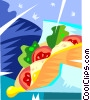Vector Clipart illustration  of a sandwich