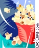 Vector Clipart graphic  of a Bag of popcorn