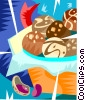 Vector Clip Art graphic  of a Christmas cookie