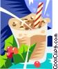 Vector Clip Art image  of a chocolate milk shake