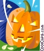 Vector Clip Art graphic  of a jack o lantern