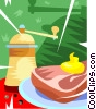 ham supper Vector Clipart picture