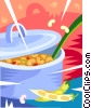 Vector Clipart graphic  of a pot of soup