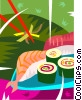 Vector Clipart graphic  of a Sushi