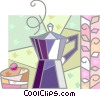 Vector Clipart picture  of a Coffee Pots and Coffee Makers