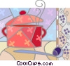 pot of soup Vector Clipart picture