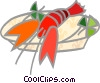 Lobster dinner Vector Clipart picture