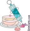 Vector Clipart graphic  of a Cakes and Pastries