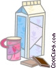 Vector Clipart illustration  of a Milk