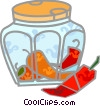Jar of Peppers Vector Clip Art image
