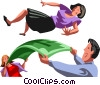 Vector Clip Art image  of a business people playing with