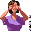Vector Clipart picture  of a woman covering her eyes