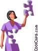 woman as a puzzle Vector Clip Art graphic